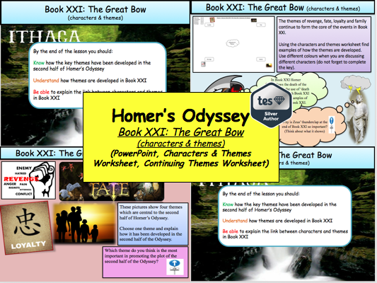 Homer's Odyssey – Book XXI: The Great Bow (characters & themes)