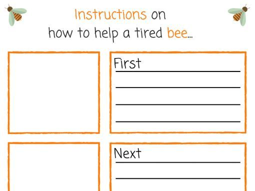 Instructions on how to help a tired bee