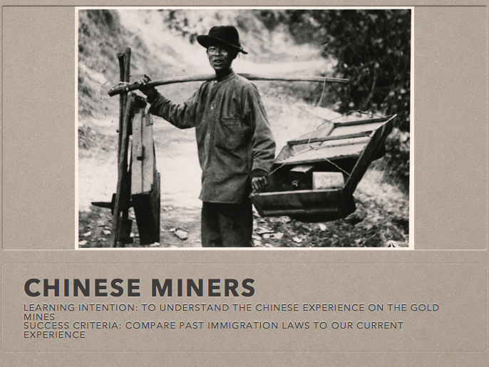 Chinese Miners in Australia during Gold Rush
