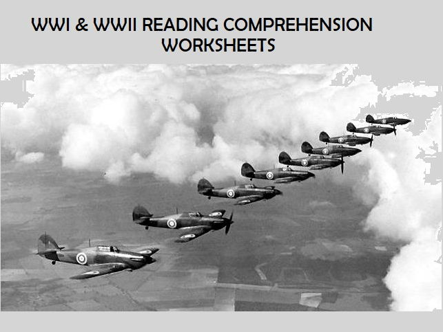WWI & WWII Reading Comprehension Worksheets (SAVE 55%)
