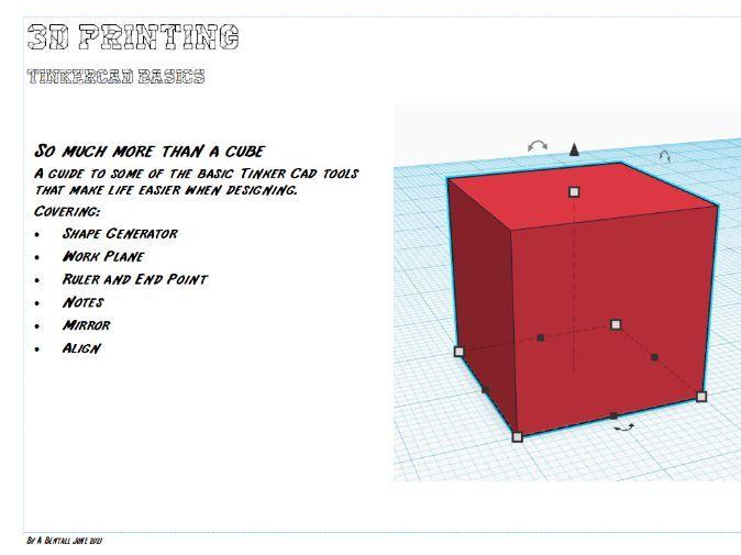 Tinker Cad Basics