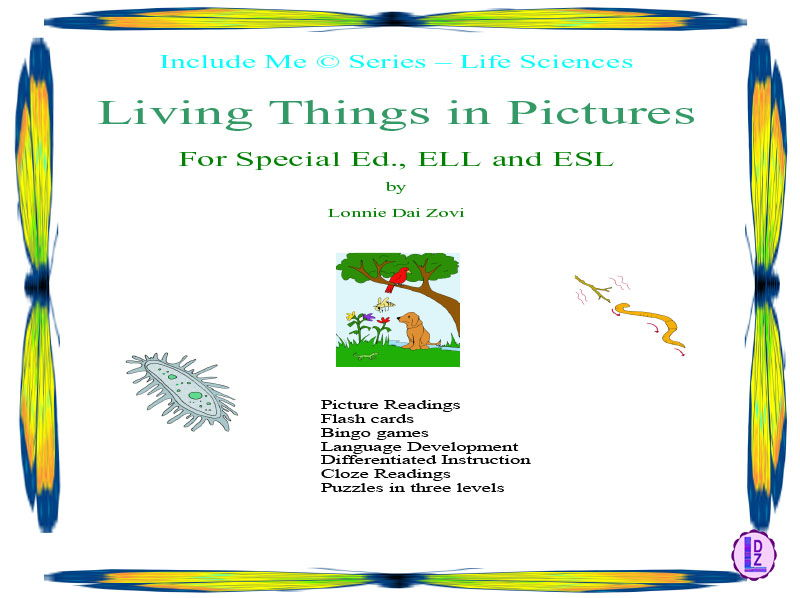 Living Things (Simplified) in Pictures for Special Ed., ELL and ESL Students