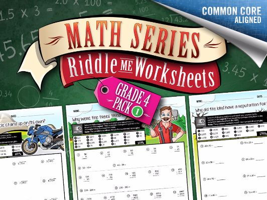 Grade 4/Year 5 Math Worksheets: Multi-skill worksheets – Math Riddles