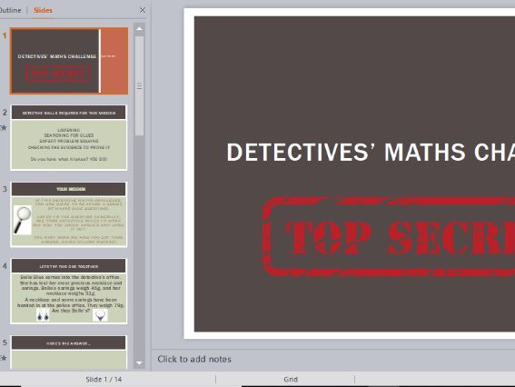 Year 2 Column Addition Word Problems Detective Themed (without crossing tens)