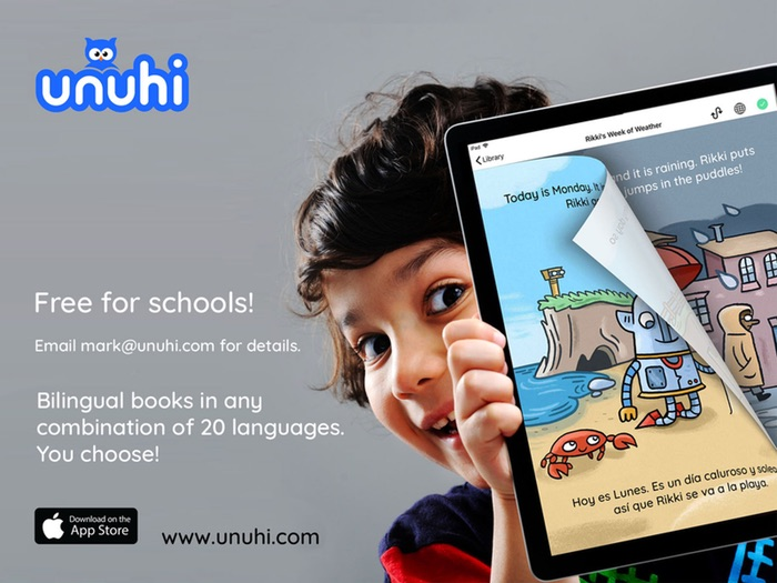 Unuhi: Bilingual Book App For Children. You Choose The Languages - Free For Schools!