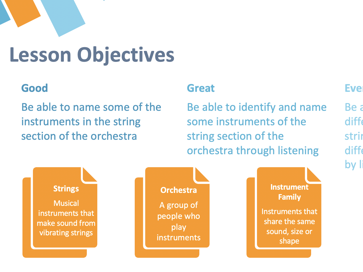 Remote Learning : Instruments of the Orchestra