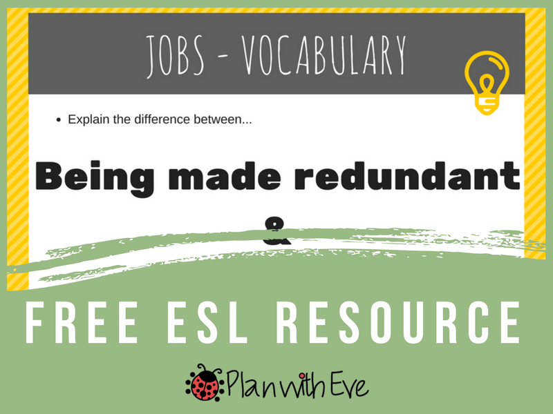 ESL Conversation : Jobs/Work - Vocabulary