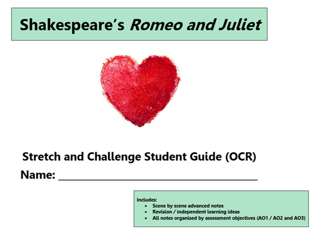 GCSE 9-1 Romeo and Juliet OCR Scheme of Work / Learning