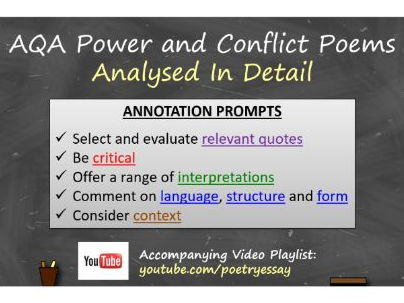 AQA Power and Conflict Poems - Analysed In Detail