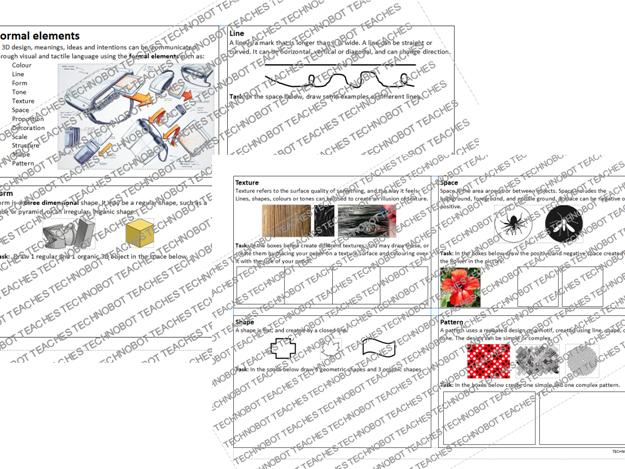 Formal elements worksheet