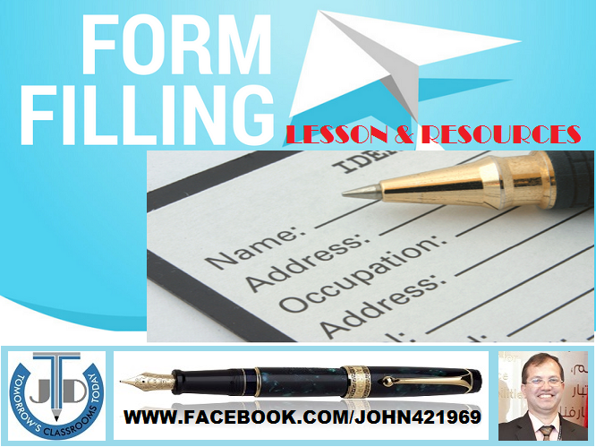 FORM FILLING: LESSON AND RESOURCES