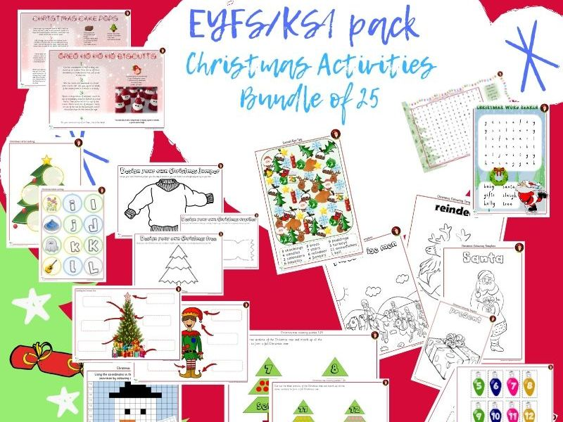 Christmas 25 Different Activities Bundle