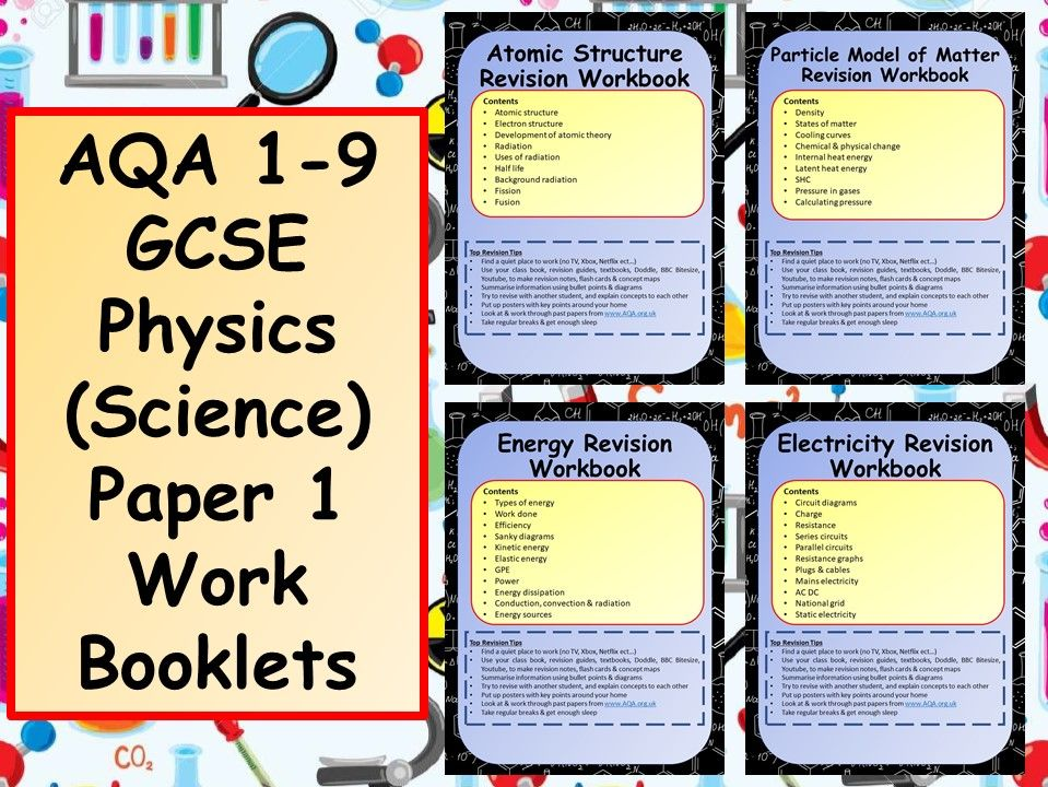 AQA 1-9 GCSE Physics (Science) Paper 1 Work Booklets Bundle