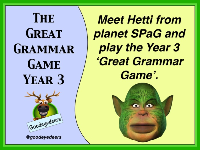 SPaG - A Great Grammar Game for Year 3