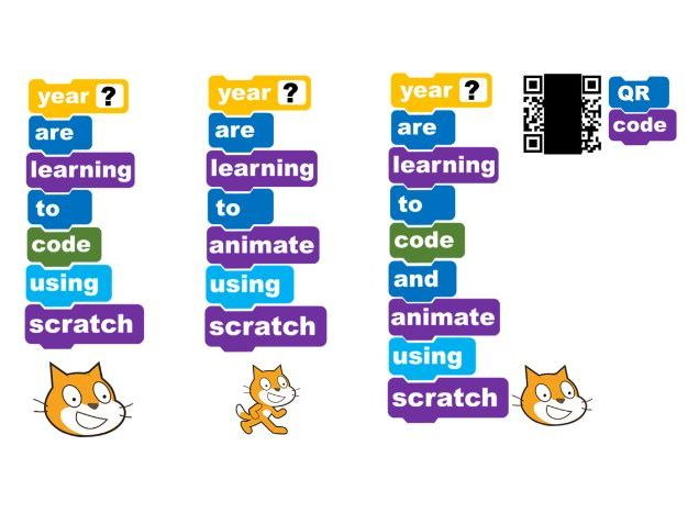 Scratch coding and/or animation display