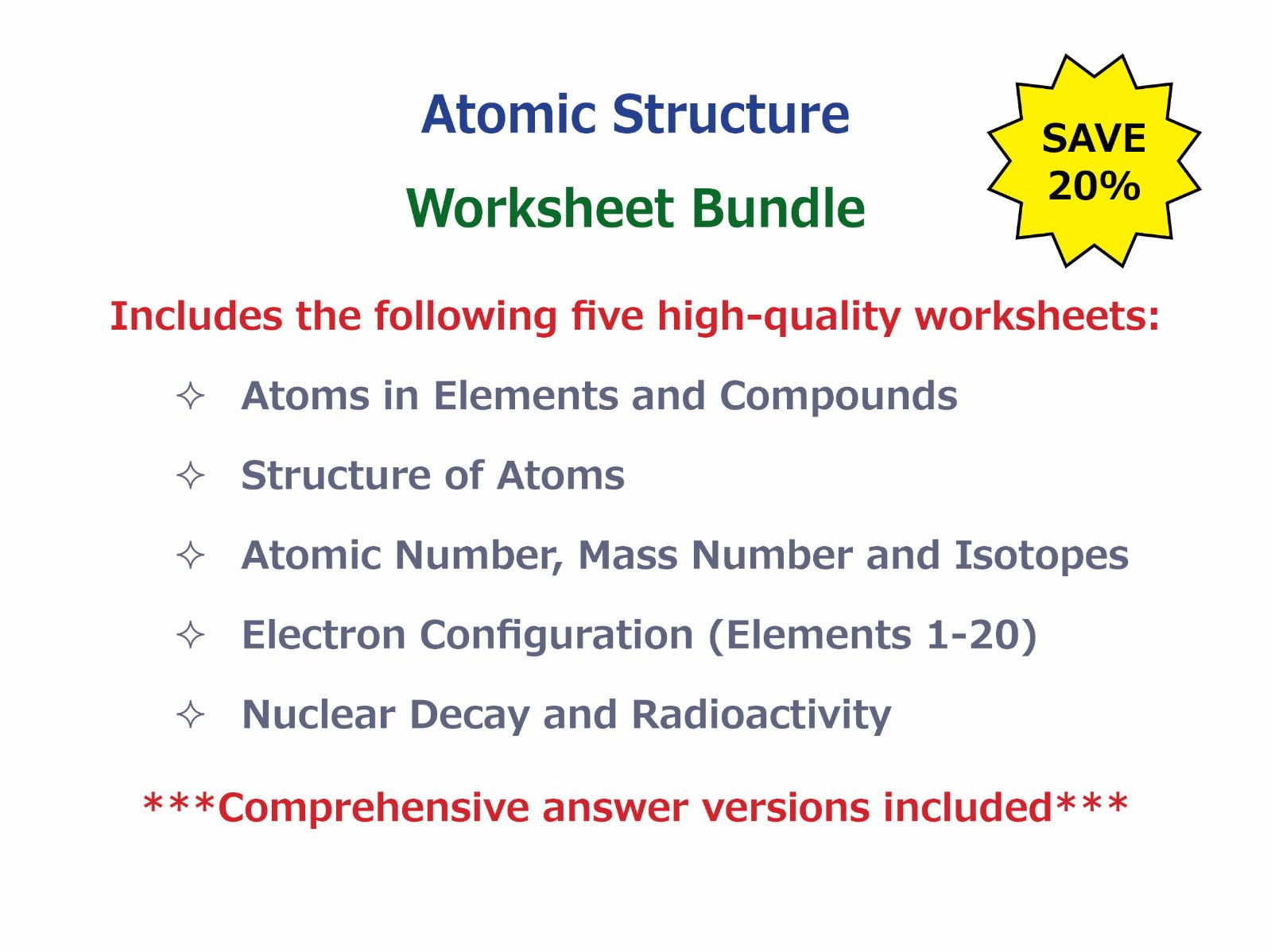 Worksheets Atomic Number Worksheet atomic number mass and isotopes worksheet by goodscienceworksheets teaching resources tes