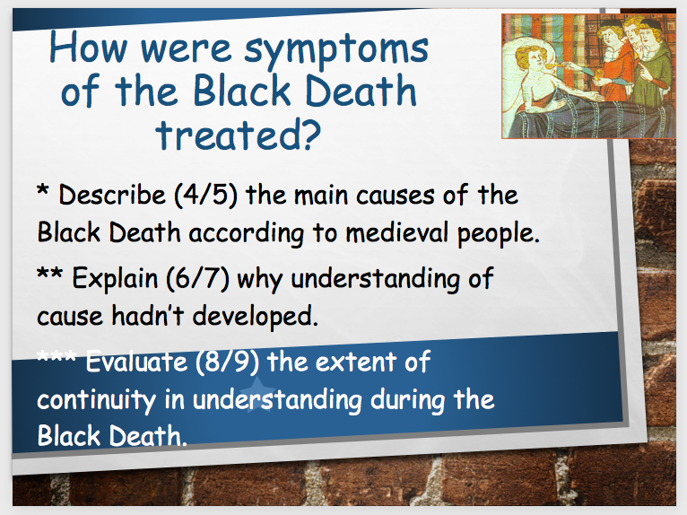 Edexcel GCSE History (9-1) Medicine 1250 - present. (Middle Ages and Renaissance)