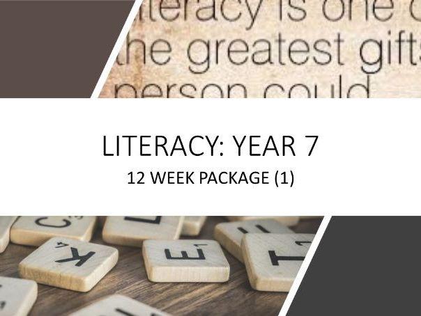 Year 7: 12 Week Literacy Study/Homework Guide (1 of 3)