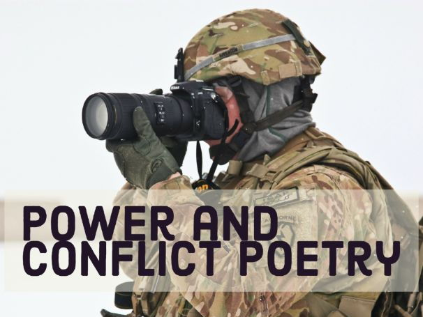 Power and Conflict Poetry AQA: analysis worksheets