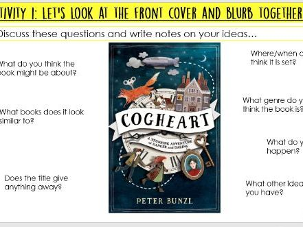 Year 6 Cogheart - prologue - sequencing/summary lesson - WHOLE CLASS READING SATS STYLE