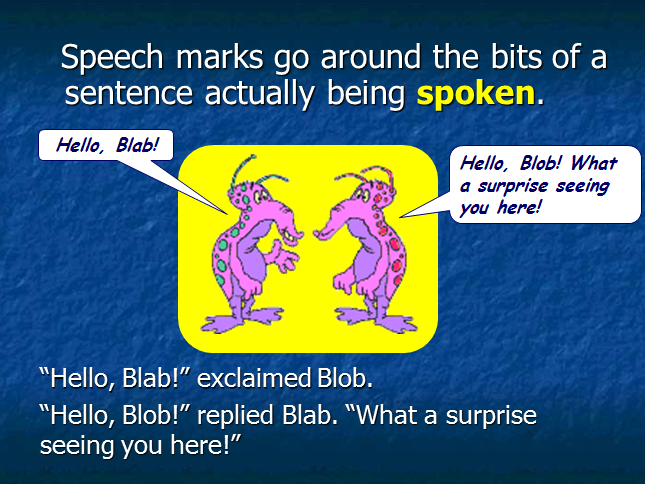 Using Speech Marks:  A Presentation and Guide