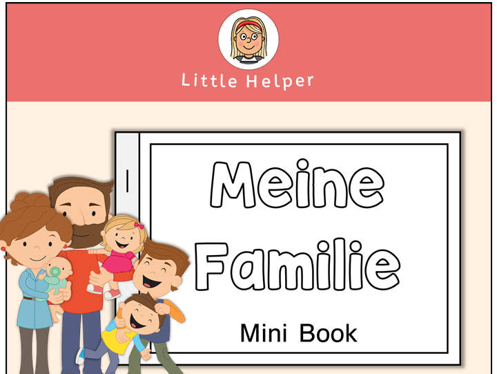 German Mini Book - Meine Familie