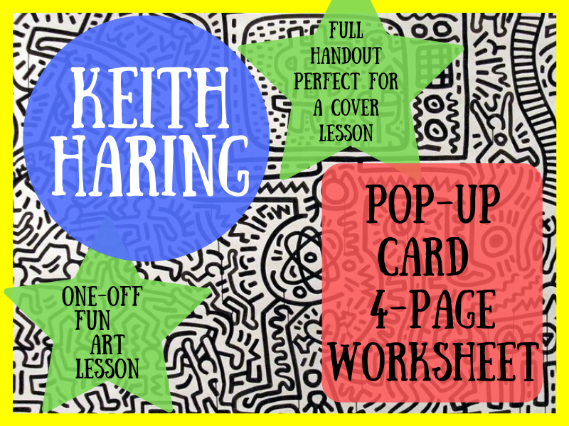 Keith Haring artist research & analysis worksheet