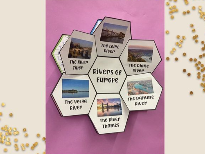 Hexagon display template