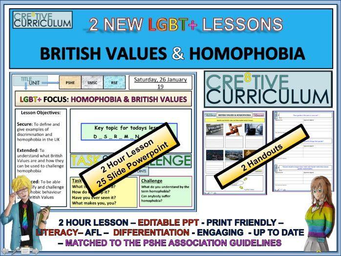 British Values & Homophobia RSE/C8F/LS/01