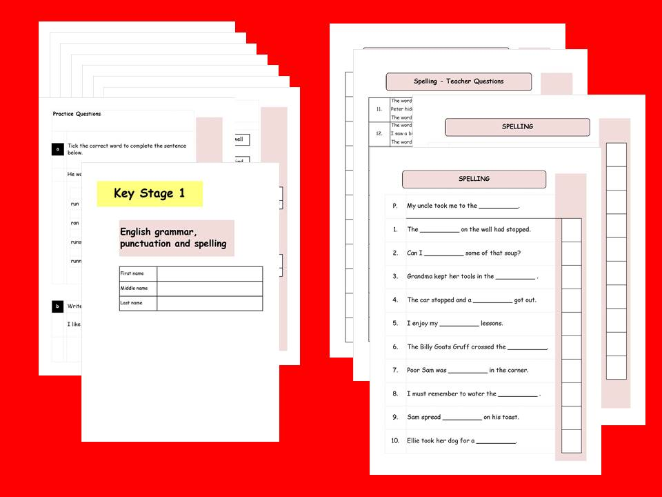 KS1, Year 2 SATs SPaG Practice Papers