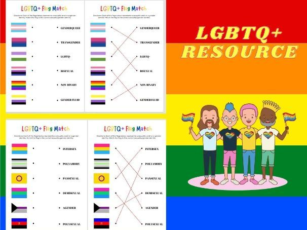 LGBTQ+ Flag Matching 2X Tasks & Answers: Pride Month: EQUALITY & DIVERSITY