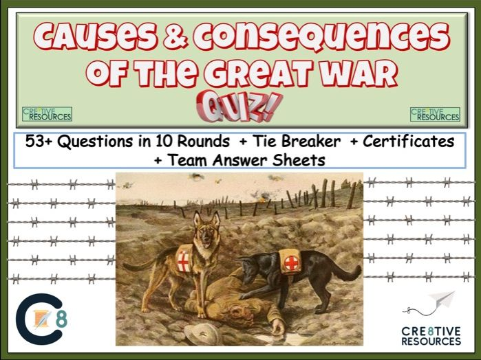 Consequences and Causes of the Great War