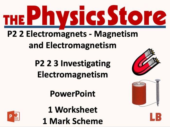KS3 Physics AQA P2 2 3 Investigating Electromagnetism Lesson Bundle