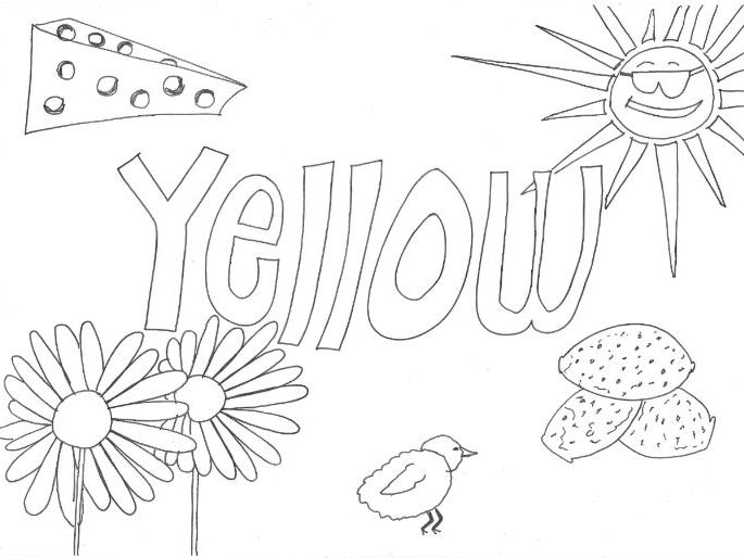 Yellow: Colours: Colouring Sheet