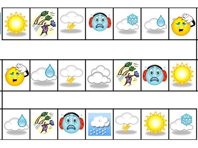 Le temps (Weather) - French - Board Game - Speaking and Listening Skills