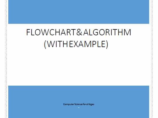 Flowchart and Algorithm with examples