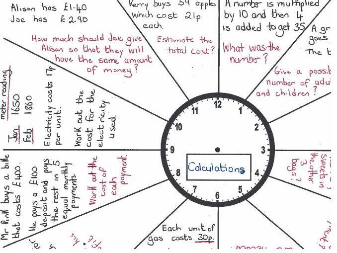 GCSE Foundation Maths/Functional Skills-Revision Clock Problem Solving