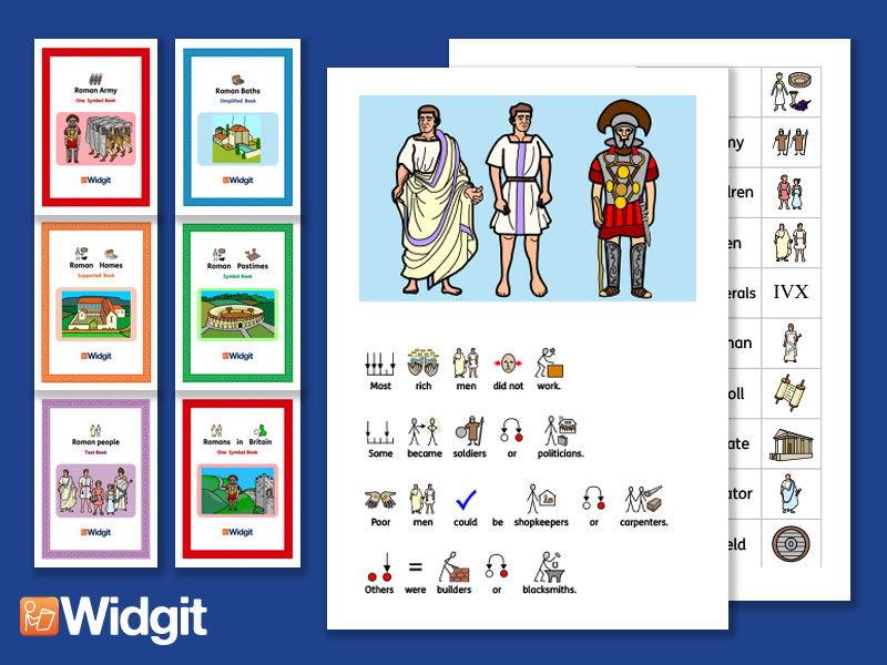The Romans Bundle - History Books and Activities with Widgit Symbols
