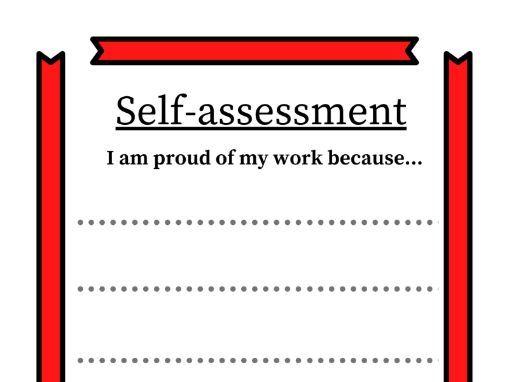 Self-assessment sheet