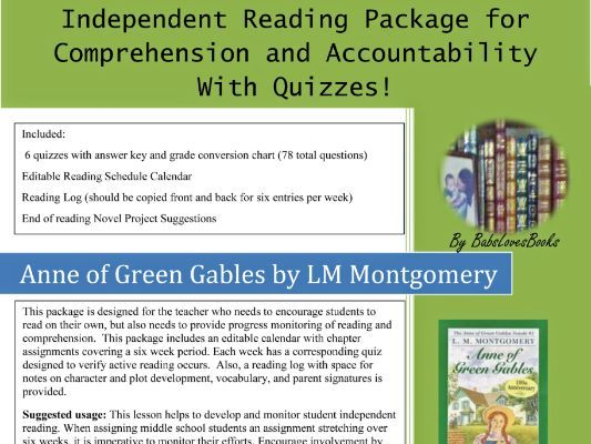 Anne of Green Gables Quizzes