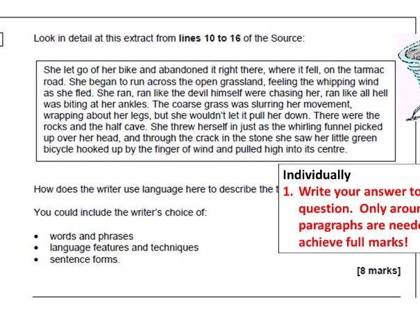 AQA New Spec, English Language Paper 1, Q2, Pick Your Poison