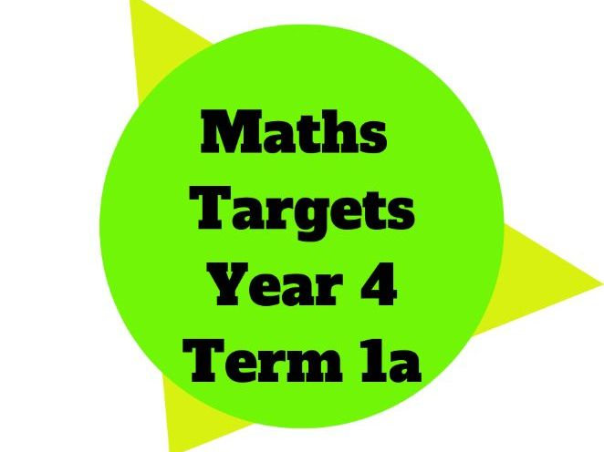 Year 4 Maths Targets Term 1a