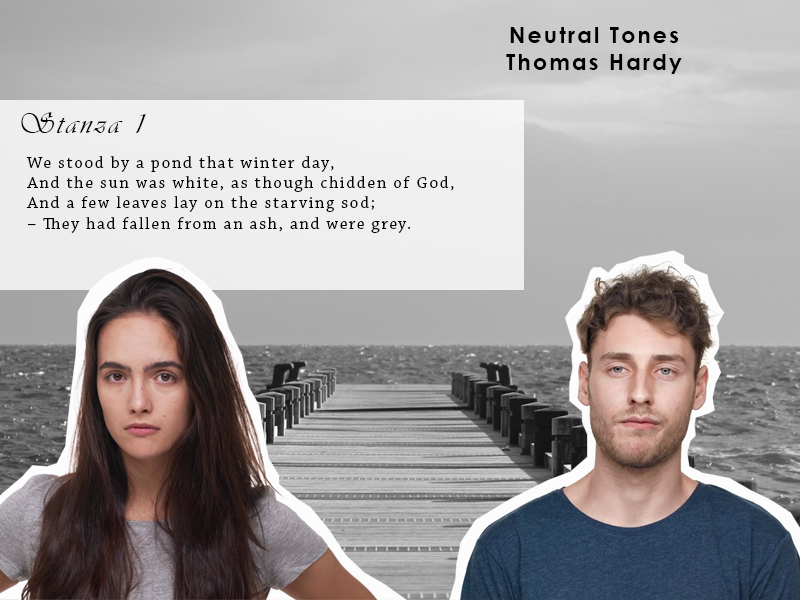 AQA Poetry Differentiated - Neutral Tones - Thomas Hardy (Love and Relationships Unit)(KS4)