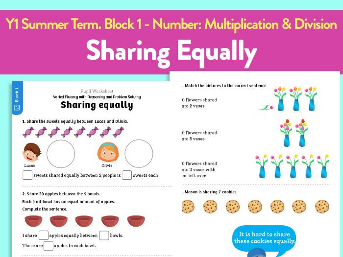 Y1 Summer Term – Block 1: Number: Multiplication & Division – Sharing Equally