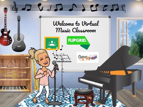 Bitmoji Virtual Classroom - Music