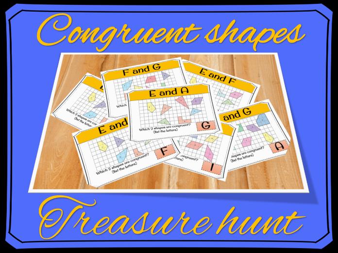 Congruent shapes treasure hunt