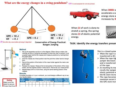 GCSE Physics: Energy - Conservation of Energy and Work Done