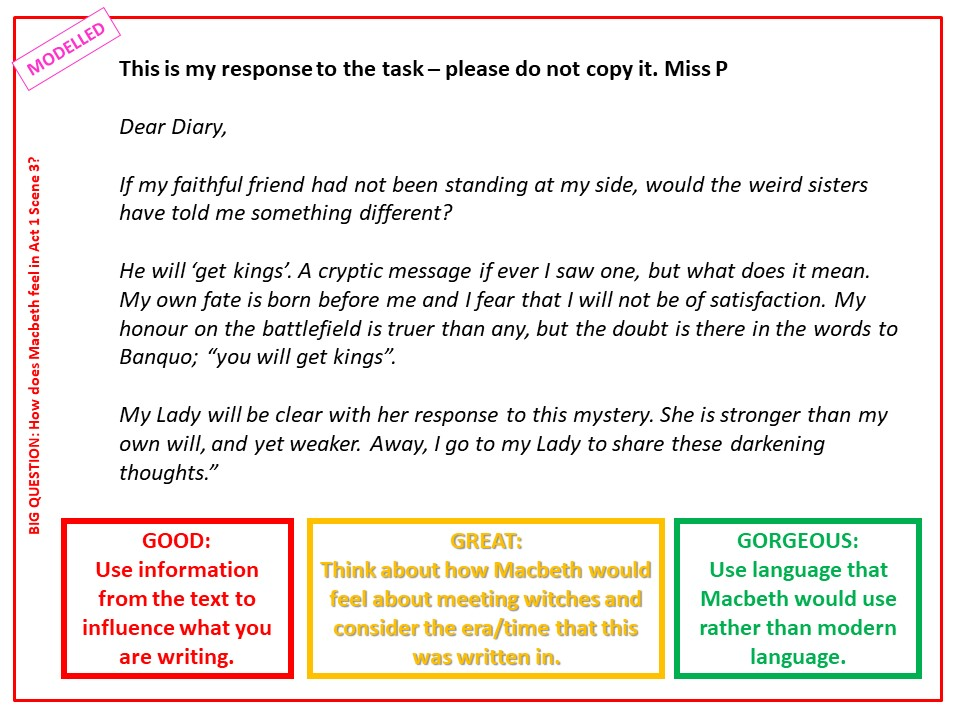 KS3/4 The Supernatural in Macbeth