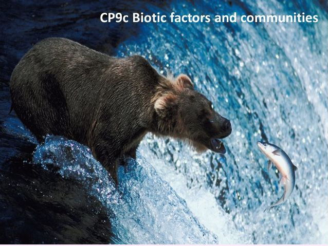 CB9c Biotic factors and communities