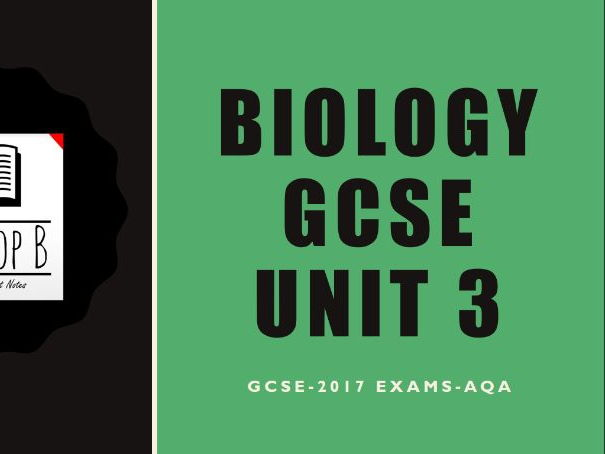 GCSE AQA Biology B3 Notes